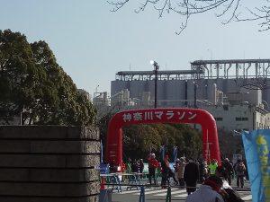 神奈川マラソンゴール写真