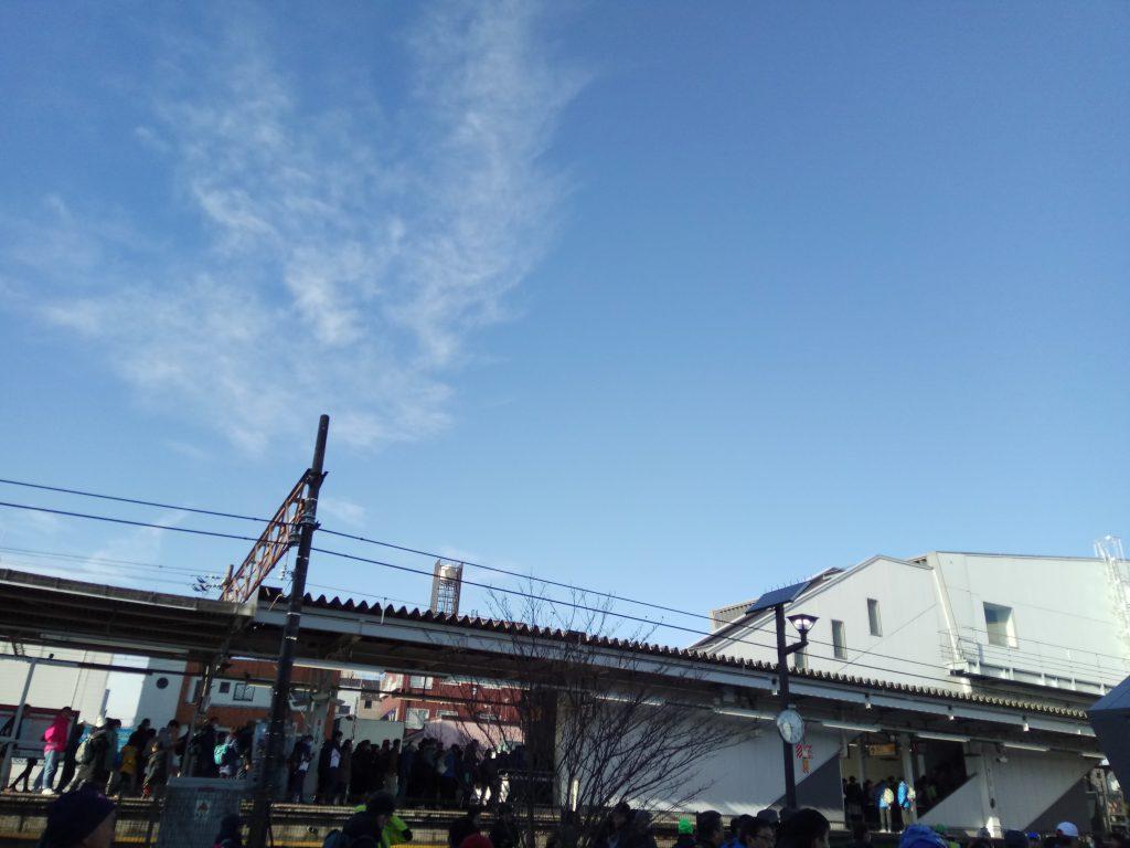 牛浜駅の様子