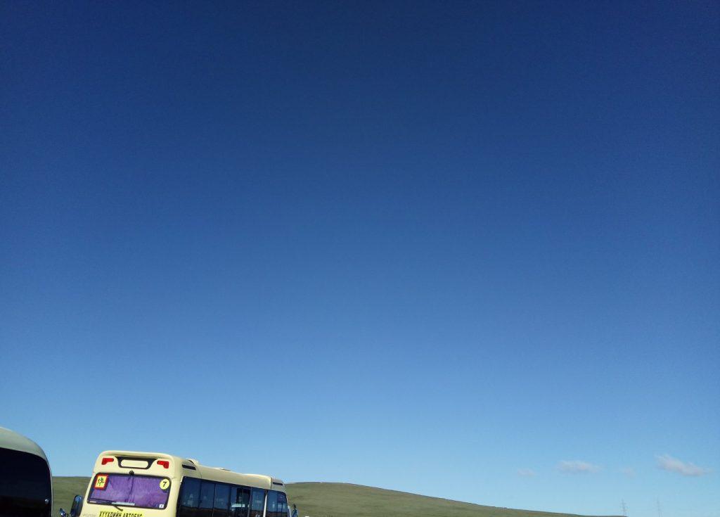 モンゴル国際草原マラソンの道中