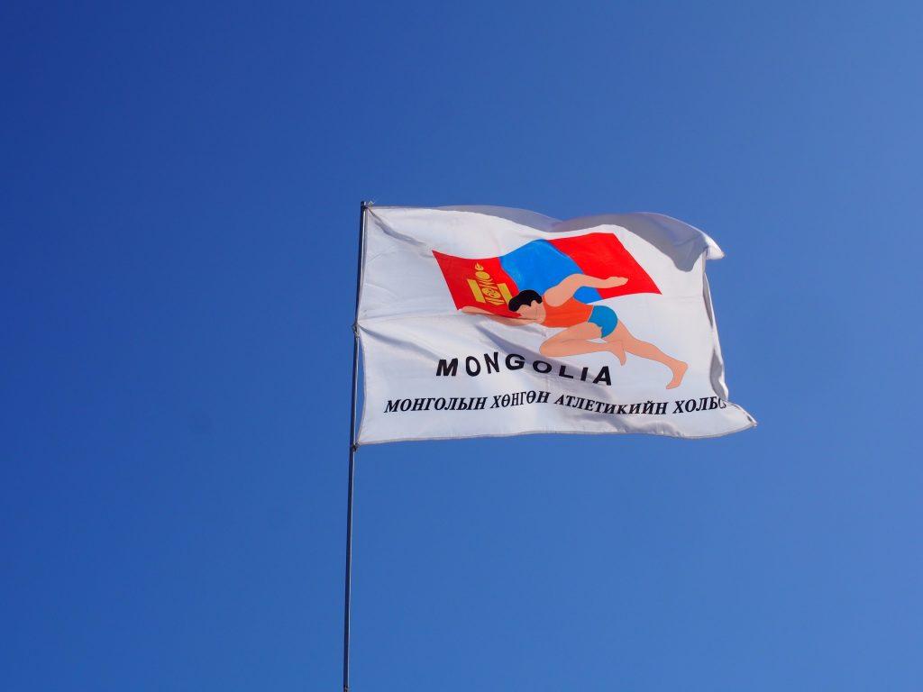モンゴル国際草原マラソン旗